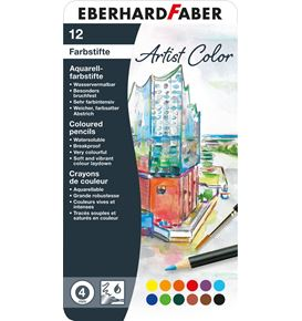 Eberhard-Faber - Aquarellbuntstift Artist Color rund 12er Metalleltui