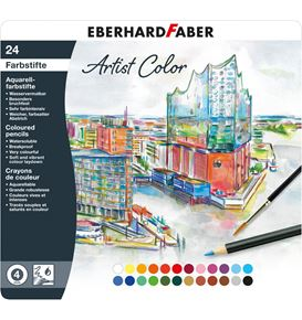Eberhard-Faber - Aquarellbuntstift Artist Color rund 24er Metalletui