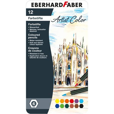 Eberhard-Faber - Farbstift Artist Color hexagonal 12er Metalletui