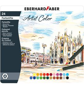 Eberhard-Faber - Artist Color Farbstifte hexagonal, Metalletui mit 24 Farben