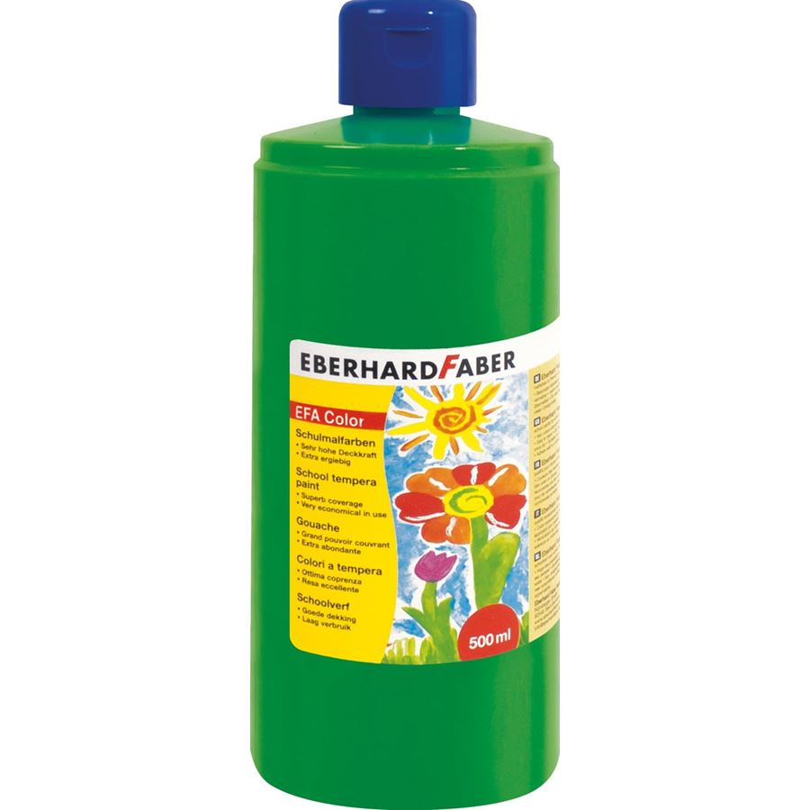 Eberhard-Faber - EFAColor Tempera 500ml permanentgrün