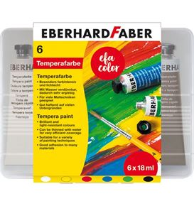 Eberhard-Faber - Tempera Tuben 18ml in 6er Kunststoffbox