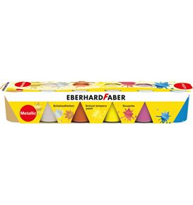 Eberhard-Faber - Schulmalfarben 6x 25 ml Set metallic