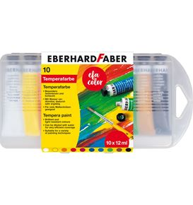 Eberhard-Faber - Tempera Tuben 12ml in 10er Kunststoffbox