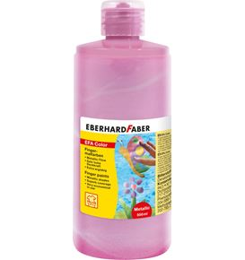 Eberhard-Faber - EFA Color Metallic Fingerfarben 500 ml, metallic-rosa
