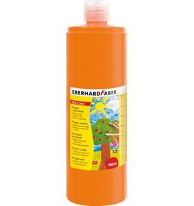 Eberhard-Faber - EFAColor Fingerfarbe 750 ml Flasche kadmiumorange