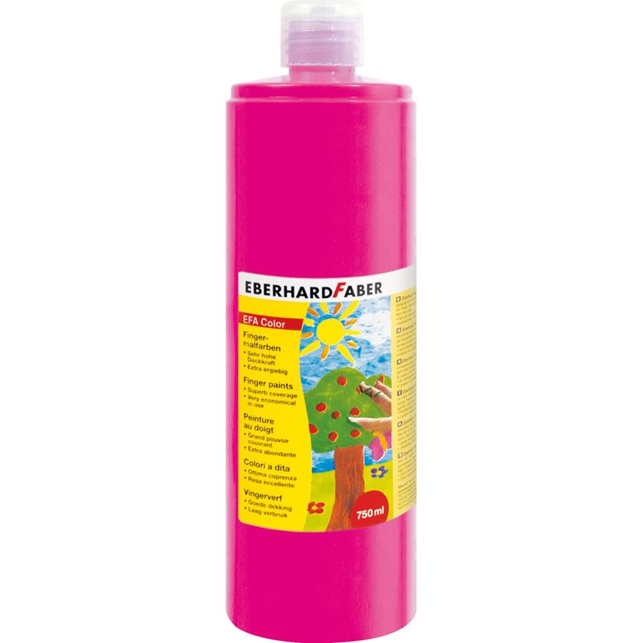 Eberhard-Faber - EFA Color Fingerfarben 750 ml Flasche, magenta hell
