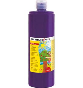 Eberhard-Faber - EFAColor Fingerfarbe 750 ml Flasche purpurviolett