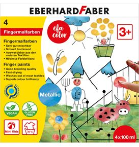 Eberhard-Faber - Fingerfarbe Metallic 100ml 4er Set