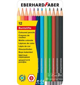 Eberhard-Faber - Buntstift hexagonal 12er Metalletui